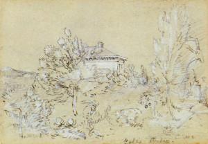 Jasper Cropsey, Thomas Cole's Studio, Catskill, New York, 1850. Wadsworth Atheneum Museum of Art
